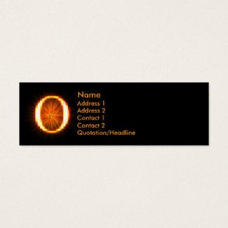 Fireblock Monogram - O Mini Business Card