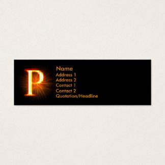 Fireblock Monogram - P Mini Business Card