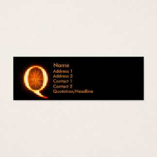 Fireblock Monogram - Q Mini Business Card