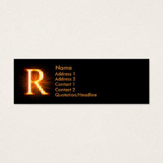 Fireblock Monogram - R Mini Business Card