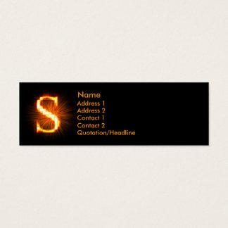 Fireblock Monogram - S Mini Business Card