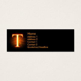 Fireblock Monogram - T Mini Business Card