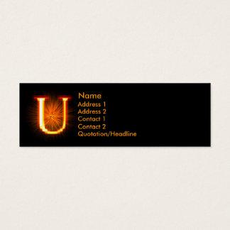 Fireblock Monogram - U Mini Business Card