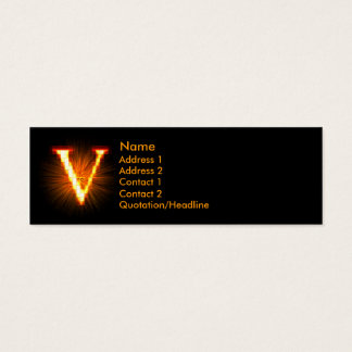 Fireblock Monogram - V Mini Business Card