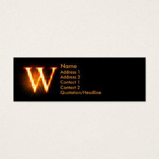 Fireblock Monogram - W Mini Business Card