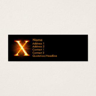 Fireblock Monogram - X Mini Business Card