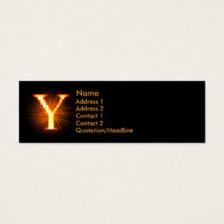 Fireblock Monogram - Y Mini Business Card