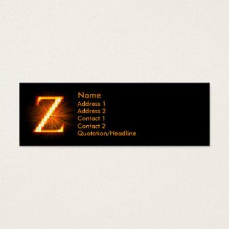 Fireblock Monogram - Z Mini Business Card