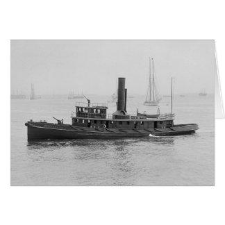 Fireboat in Boston Harbor, 1906 Card