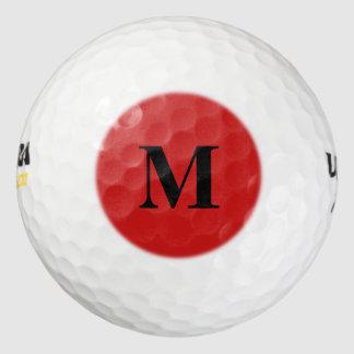 Firebrick Red Solid Color Golf Balls