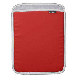 Firebrick Red Solid Color iPad Sleeve