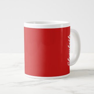Firebrick Red Solid Color Large Coffee Mug