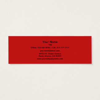 Firebrick Red Solid Color Mini Business Card