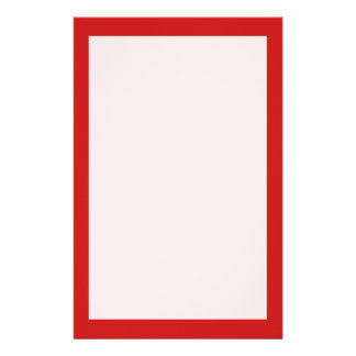 Firebrick Red Solid Color Stationery