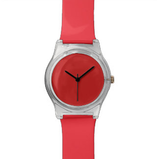 Firebrick Red Solid Color Wristwatch