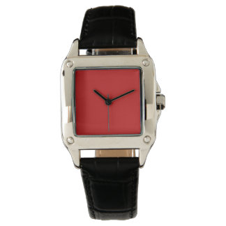Firebrick Red Solid Color Wristwatches