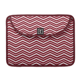 Firebrick Red &White Zigzag Pattern MacBook Sleeve Sleeve For MacBooks