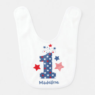 Firecracker 1st Birthday Bib