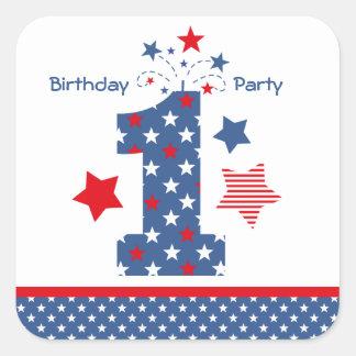 Firecracker 1st Birthday Sticker