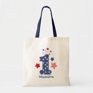 Firecracker 1st Birthday Tote Bag