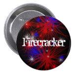 Firecracker 3 Inch Round Button