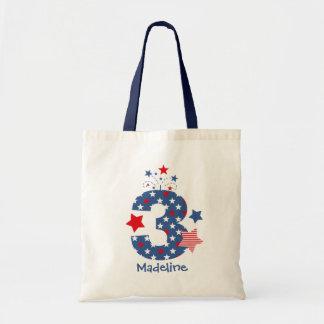 Firecracker 3rd Birthday Canvas Bags