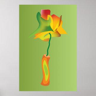 firecracker flower poster