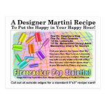 Firecracker Ice Cream Martini Recipe Card Postcard