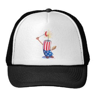 firecracker July 4th hotdog Trucker Hat