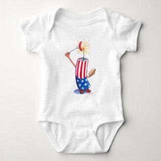 firecracker July 4th hotdog Infant Creeper