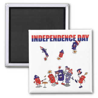 Firecracker Party 2 Inch Square Magnet