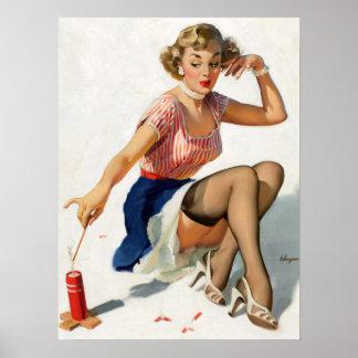 Firecracker Pin Up Poster