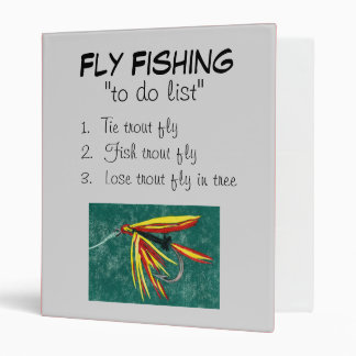 """Firecracker-To Do List"" Fly Fishing Journal Binder"