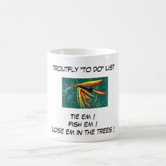 """""""Firecracker - Trout Fly """"To Do List"""" Mug"""