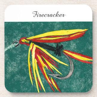 """Firecracker"" Trout Wet Fly Coaster"