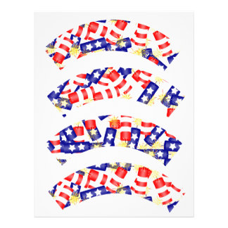 Firecrackers for the 4th of July Cupcake Liners Letterhead