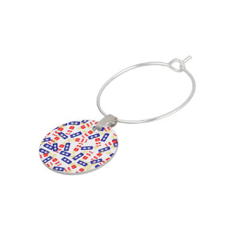 Firecrackers for the 4th of July Wine Glass Charm