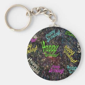 Firecrackin Happy Birthday Keychain