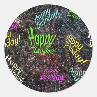 Firecrackin Happy Birthday Stickers