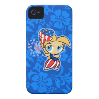 Firecraker Hula Girl Patriotic iPhone 4 Case