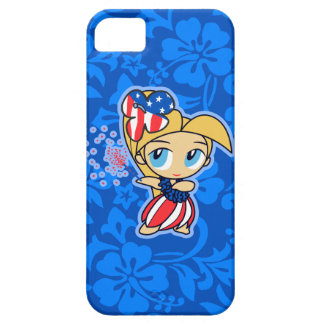 Firecraker Hula Girl Patriotic iPhone 5 Case
