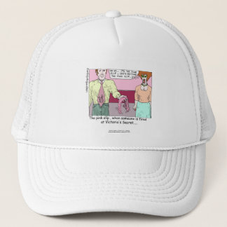 Fired From Victoria Secret Cartoon White Cap
