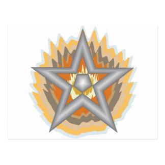 FIRED STAR POSTCARD