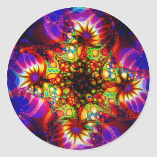 Fired Synapse of the Holographic Mind Classic Round Sticker