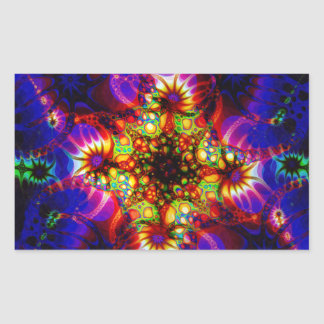 Fired Synapse of the Holographic Mind Rectangular Sticker