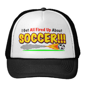"""""""Fired Up About Soccer"""" Hat"""