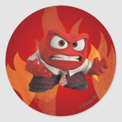 Round Sticker with Anger from Disney Pixar's Inside Out design