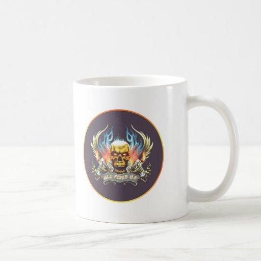 fired up classic white coffee mug