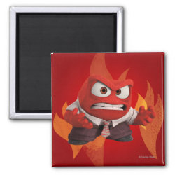 Square Magnet with Anger from Disney Pixar's Inside Out design