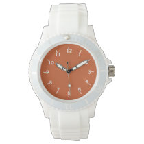 Fired Up Orange and Marshmallows Wristwatch